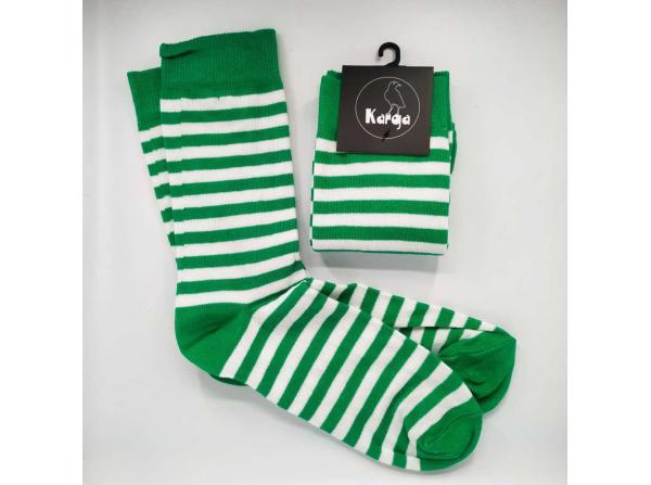 Yeşil Beyaz Çizgili Unisex Çorap