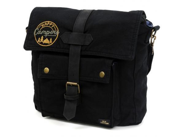 Old Cotton Cargo 7170 Branco Omuz Tablet Evrak Postacı Laptop Notebook Çantası Siyah Sarı