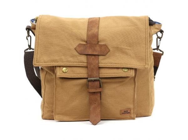 Old Cotton Cargo 7170 Branco Omuz Tablet Evrak Postacı Laptop Notebook Çantası TABA DÜZ