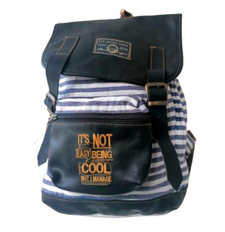 OLD COTTON CARGO 5048 NEW MALLACCA BAG İT,S NOT EASY GRİ