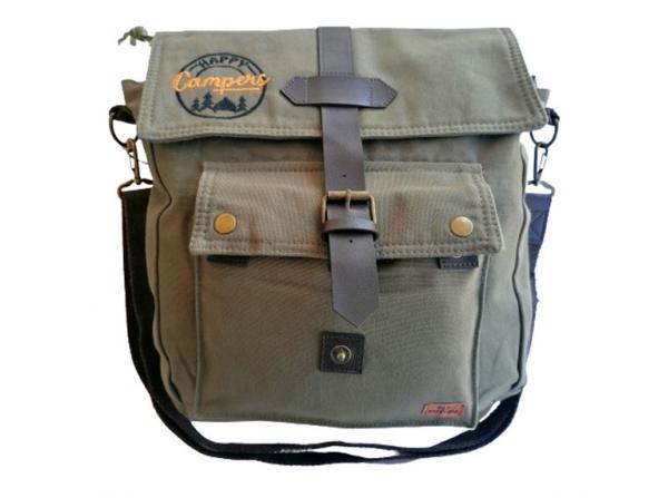 Old Cotton Cargo 7170 Branco Omuz Tablet Evrak Postacı Laptop Notebook Çantası Haki Kahve