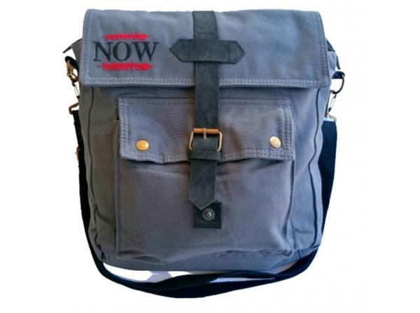 Old Cotton Cargo 7170 Branco Omuz Tablet Evrak Postacı Laptop Notebook Çantası Füme Bordo