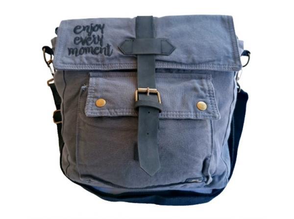 Old Cotton Cargo 7170 Branco Omuz Tablet Evrak Postacı Laptop Notebook Çantası Füme siyah