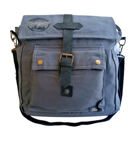 Old Cotton Cargo 7170 Branco Omuz Tablet Evrak Postacı Laptop Notebook Çantası Füme Gri