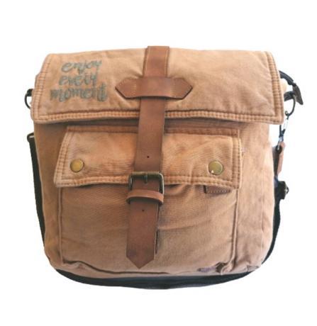Old Cotton Cargo 7170 Branco Omuz Tablet Evrak Postacı Laptop Notebook Çantası TABA GRİ