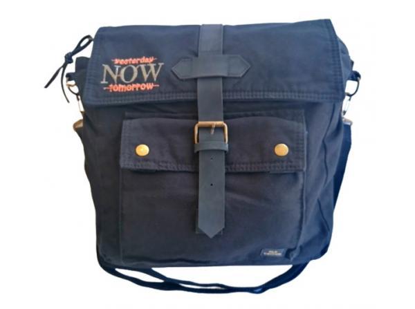 Old Cotton Cargo 7170 Branco Omuz Tablet Evrak Postacı Laptop Notebook Çantası Siyah Gri