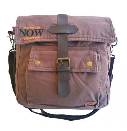 Old Cotton Cargo 7170 Branco Omuz Tablet Evrak Postacı Laptop Notebook Çantası Kahve SARI