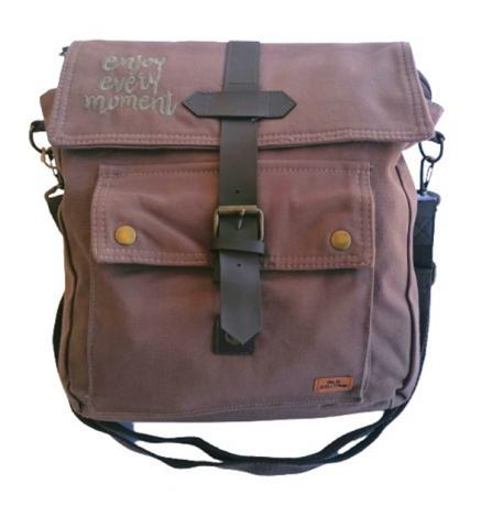 Old Cotton Cargo 7170 Branco Omuz Tablet Evrak Postacı Laptop Notebook Çantası Kahve Gri