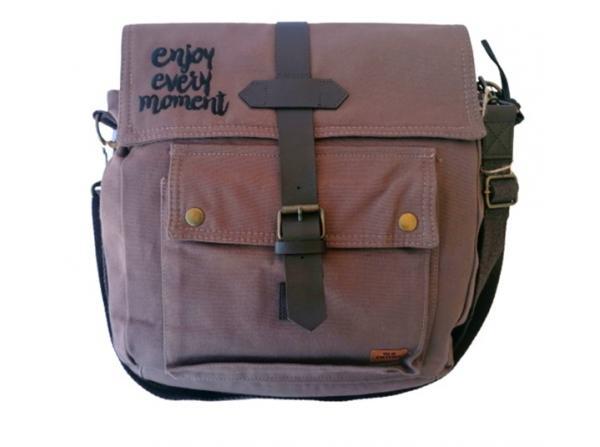 Old Cotton Cargo 7170 Branco Omuz Tablet Evrak Postacı Laptop Notebook Çantası Kahve Siyah